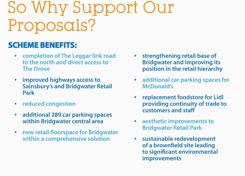 11 So Why Support Our Proposals Amended